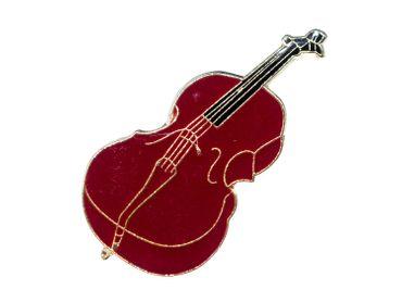 Cello Pin Brosche Miniblings Anstecknadel Instrument Musik Geige Braun MINI – Bild 1