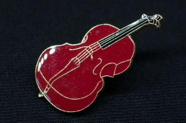 Cello Pin Brosche Miniblings Anstecknadel Instrument Musik Geige Braun MINI – Bild 3