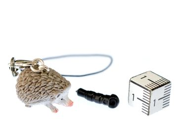 Hedgehog Mobile Phone Charm Pendant Miniblings Animals Kid Jewelry Autumn Rubber – Bild 3