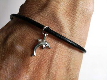 Delfin Lederarmband Miniblings Delfinarmband Armband Delphin Tümmler Tauchen – Bild 2