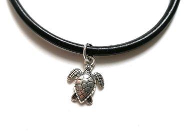 Schildkröte Lederarmband Miniblings Armband Wasserschildkröte Meeresschildkröte – Bild 1