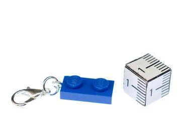Lego 2er Plättchen Platte Charm Anhänger Bettelarmband Miniblings Charmes blau – Bild 2