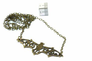 Bat Necklace Vampire Halloween Horror Bronze 60cm Bat – Bild 2