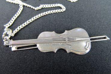 Violins Violin Necklace Miniblings Viola 60cm Silver 6cm – Bild 2