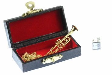 Trumpet Necklace Miniblings Orchestra Gold Plated 60cm + Box – Bild 4