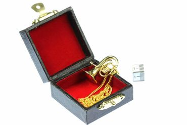 Tuba Necklace Miniblings Tenor Horn Tubas Gold Plated 60cm + Box – Bild 3