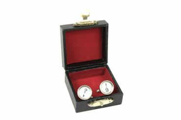 ! +? Cuff Links Cufflinks Vintage Typewriter Keys Miniblings Question Mark White – Bild 2