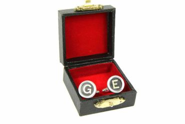 Request Letter Customized Initial Cuff Links Cufflinks Typewriter Keys Miniblings Schw +? – Bild 2