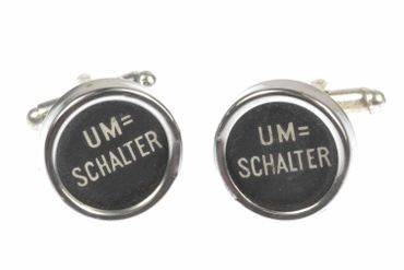 Umschalter Shift Cuff Links Cufflinks Vintage Typewriter Keys Miniblings Large Black – Bild 2