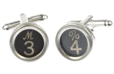 Request Number Cuff Links Cufflinks Typewriter Keys Miniblings Number 3+ Black? – Bild 5