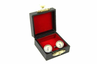 Request Number Cuff Links Cufflinks Typewriter Keys Miniblings Number White 6+? – Bild 3