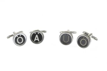 Ä Ü Ö German Umlauts Cuff Links Cufflinks Vintage Typewriter Keys Miniblings Black – Bild 5