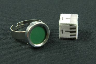 Green Button Ring Vintage Typewriter Keys Miniblings Upcycling – Bild 4