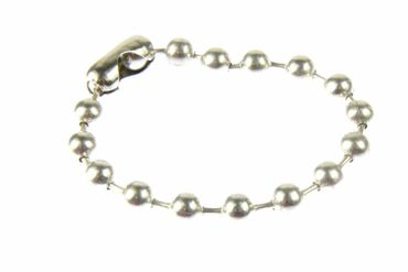 Large Ball Chain Bracelet Wristlet Miniblings Hip Hop XL Silver – Bild 1