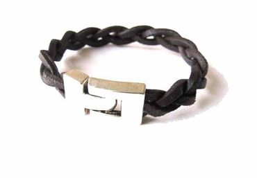 Leather Bracelet Wristlet Men'S Miniblings Brhelped Dark Brown Leather Necklace10mm – Bild 2