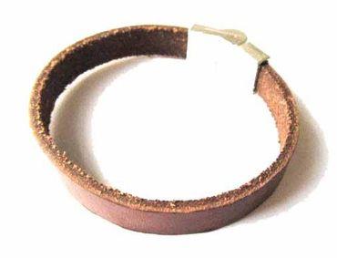Leather Bracelet Wristlet Men'S Miniblings Dark Brown Leather Necklace10mm Magnet Magnetsic R – Bild 3