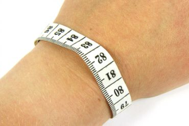 Tape Measure Measuring Ruler Tape Measure Miniblings Bracelet Wristlet Dangle Upcycling Recycling White – Bild 1