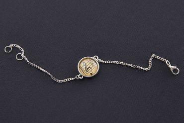 Noten Musik Violinschlüssel Notenschlüssel Bettelarmband Armband Miniblings silb – Bild 7