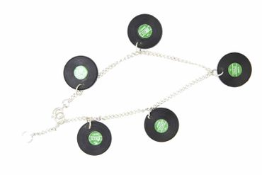 Vinyl Lp Record Bracelet Wristlet Dangle Miniblings Dj Music Green