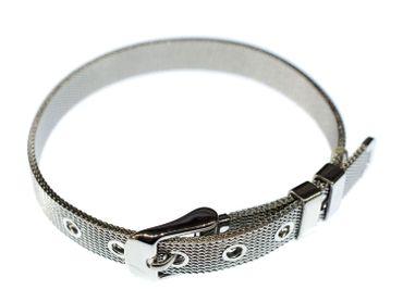 Uhrenarmband Metallarmband Panzerarmband Armband Miniblings 8mm breit silber