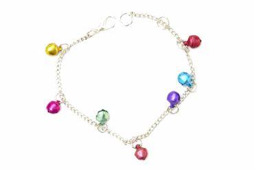 Bells Miniblings Bracelet Wristlet Dangle Bell Silver Colorful
