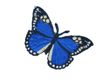 Butterfly Patch Hotfix Iron On Application Iron On Motif Miniblings Morpho Blue 8X6cm – Bild 2