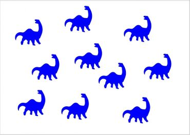 10X Patch Hotfix Iron On Motif Miniblings 26mm Velvety Flock Dino Dinosaur – Bild 14