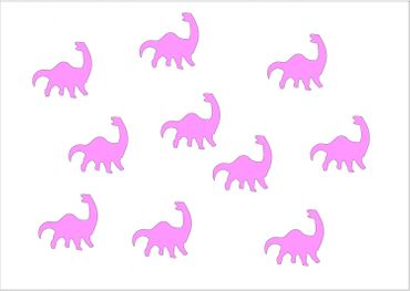 10X Patch Hotfix Iron On Motif Miniblings 26mm Velvety Flock Dino Dinosaur – Bild 17