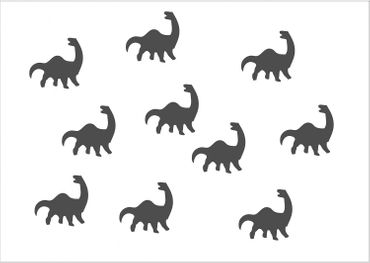 10X Patch Hotfix Iron On Motif Miniblings 26mm Velvety Flock Dino Dinosaur – Bild 4