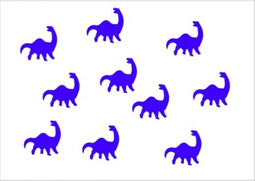 10X Patch Hotfix Iron On Motif Miniblings 26mm Velvety Flock Dino Dinosaur – Bild 7