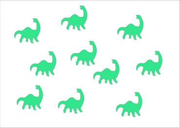 10X Patch Hotfix Iron On Motif Miniblings 26mm Glossy Gloss Dino Dinosaur – Bild 12