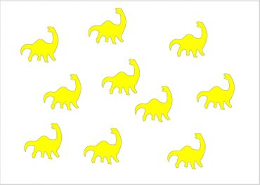 10X Patch Hotfix Iron On Motif Miniblings 26mm Glossy Gloss Dino Dinosaur – Bild 4