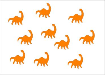 10X Patch Hotfix Iron On Motif Miniblings 26mm Glossy Gloss Dino Dinosaur – Bild 9