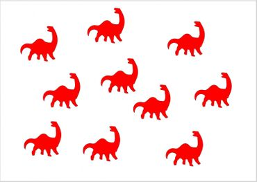 10X Patch Hotfix Iron On Motif Miniblings 26mm Glossy Gloss Dino Dinosaur – Bild 10
