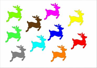 10X Patch Hotfix Iron On Motif Miniblings 28mm Velvety Flock Deer Fawn Deer