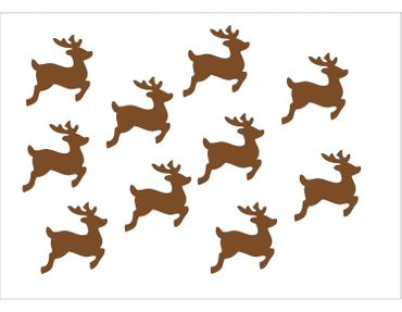 10X Patch Hotfix Iron On Motif Miniblings 28mm Velvety Flock Deer Fawn Deer – Bild 2