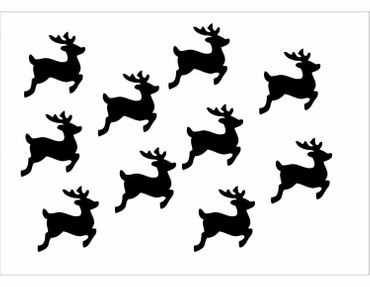 10X Patch Hotfix Iron On Motif Miniblings 28mm Velvety Flock Deer Fawn Deer – Bild 12