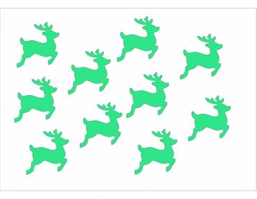 10X Patch Hotfix Iron On Motif Miniblings 28mm Velvety Flock Deer Fawn Deer – Bild 13