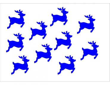 10X Patch Hotfix Iron On Motif Miniblings 28mm Velvety Flock Deer Fawn Deer – Bild 15