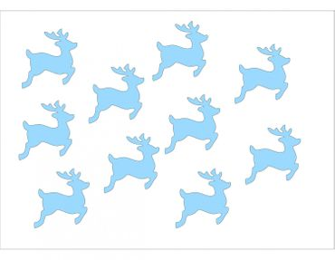 10X Patch Hotfix Iron On Motif Miniblings 28mm Velvety Flock Deer Fawn Deer – Bild 6