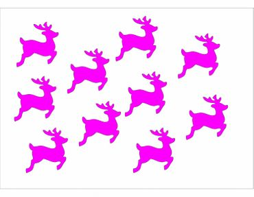 10X Patch Hotfix Iron On Motif Miniblings 28mm Velvety Flock Deer Fawn Deer – Bild 9