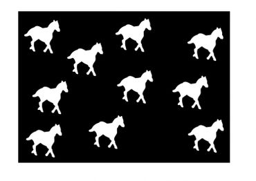 10X Patch Hotfix Iron On Motif Miniblings 25mm Velvety Flock Horse Pony Horses – Bild 14