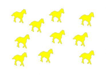 10X Patch Hotfix Iron On Motif Miniblings 25mm Velvety Flock Horse Pony Horses – Bild 17