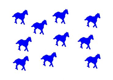10X Patch Hotfix Iron On Motif Miniblings 25mm Velvety Flock Horse Pony Horses – Bild 3