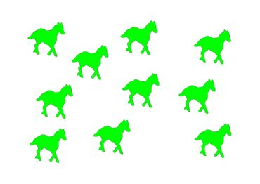 10X Patch Hotfix Iron On Motif Miniblings 25mm Velvety Flock Horse Pony Horses – Bild 5