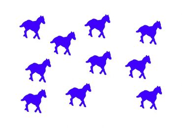 10X Patch Hotfix Iron On Motif Miniblings 25mm Velvety Flock Horse Pony Horses – Bild 7