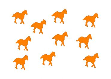 10X Patch Hotfix Iron On Motif Miniblings 25mm Velvety Flock Horse Pony Horses – Bild 8