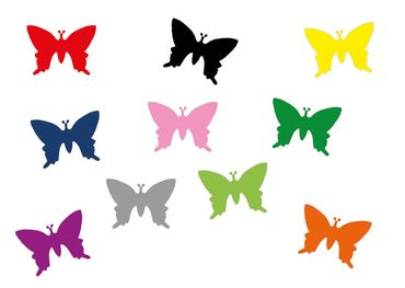 10X Patch Hotfix Iron On Motif Miniblings 25mm Butterfly Velvety Flock – Bild 16
