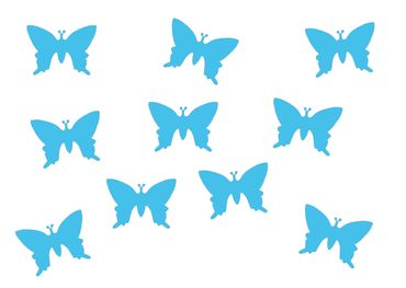 10X Patch Hotfix Iron On Motif Miniblings 25mm Butterfly Velvety Flock – Bild 19