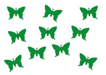 10X Patch Hotfix Iron On Motif Miniblings 25mm Butterfly Velvety Flock – Bild 8